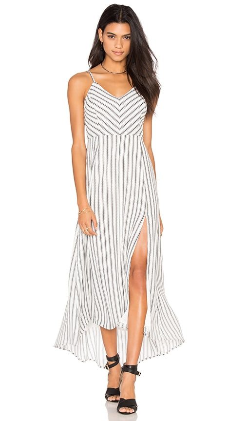 Line & Dot Ville Maxi Dress in White