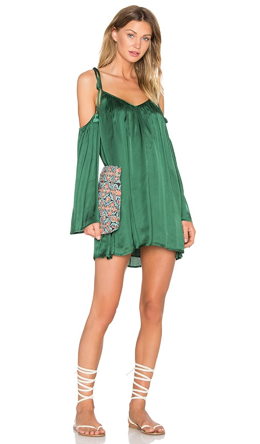 Line & Dot Rampling Mini Dress in Green