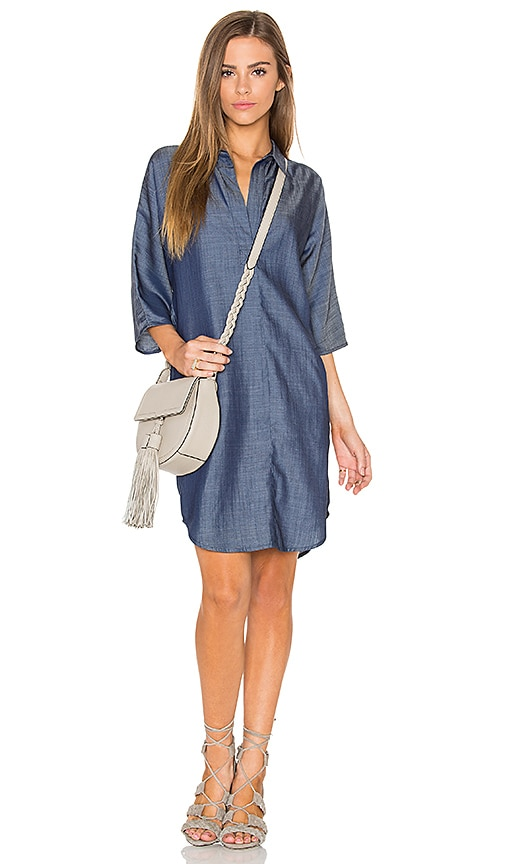 Line & Dot Ines Shirt Dress in Blue