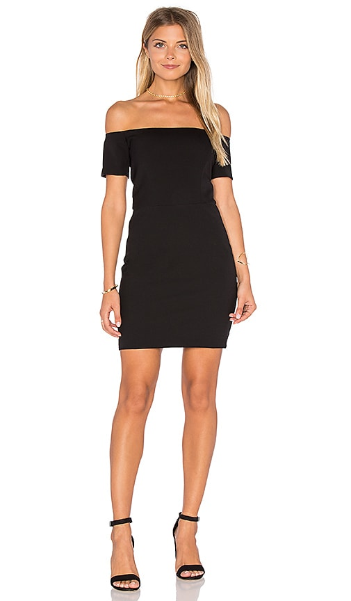 Line & Dot Cecil Off Shoulder Dress in Black
