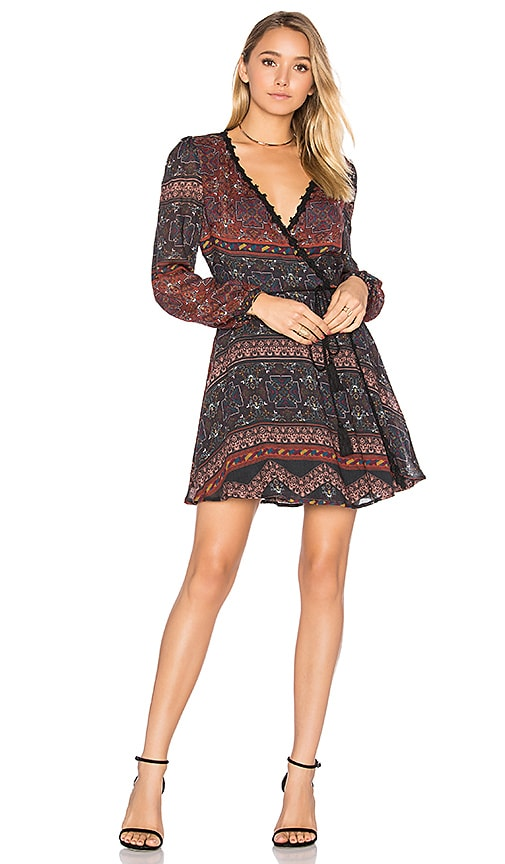 Line & Dot Dakota Wrap Dress in Rust