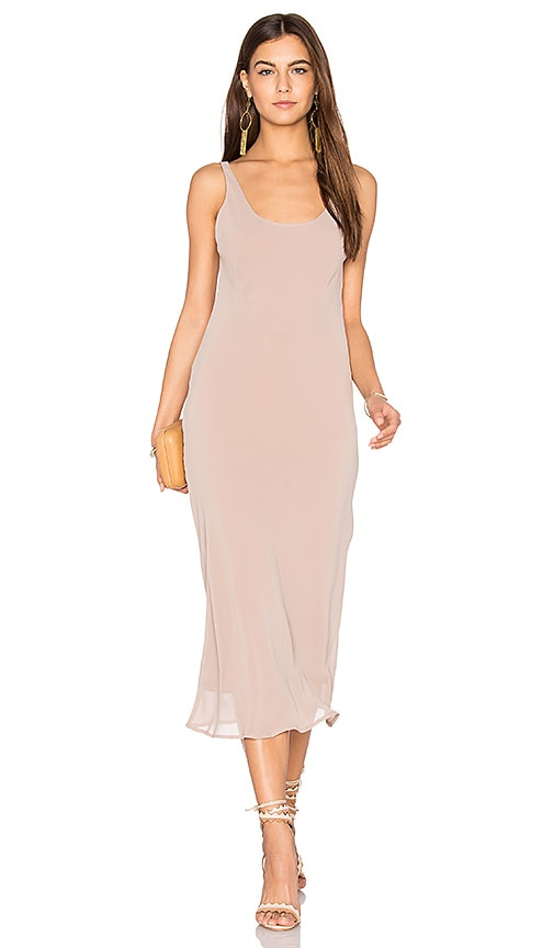 Line & Dot Ely Bias Dress in Taupe