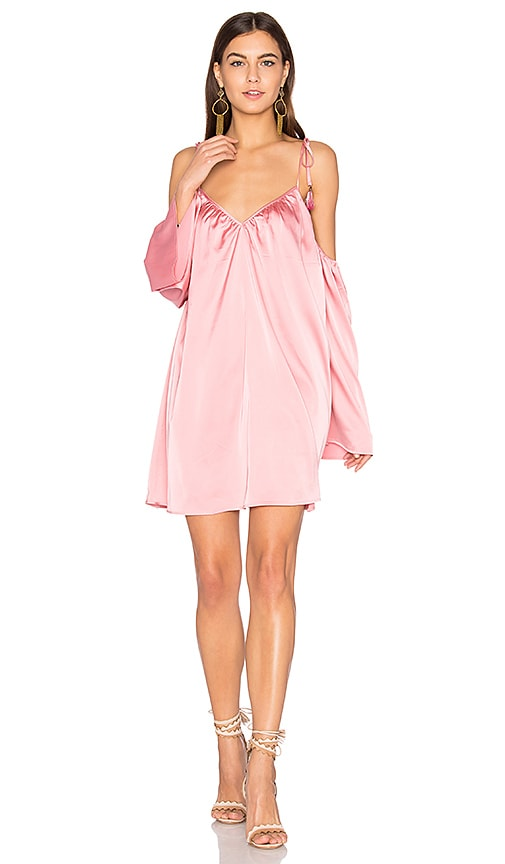 Line & Dot Rampling Mini Dress in Pink