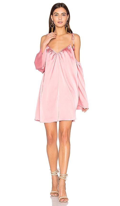 Line & Dot Rampling Mini Dress in Pink