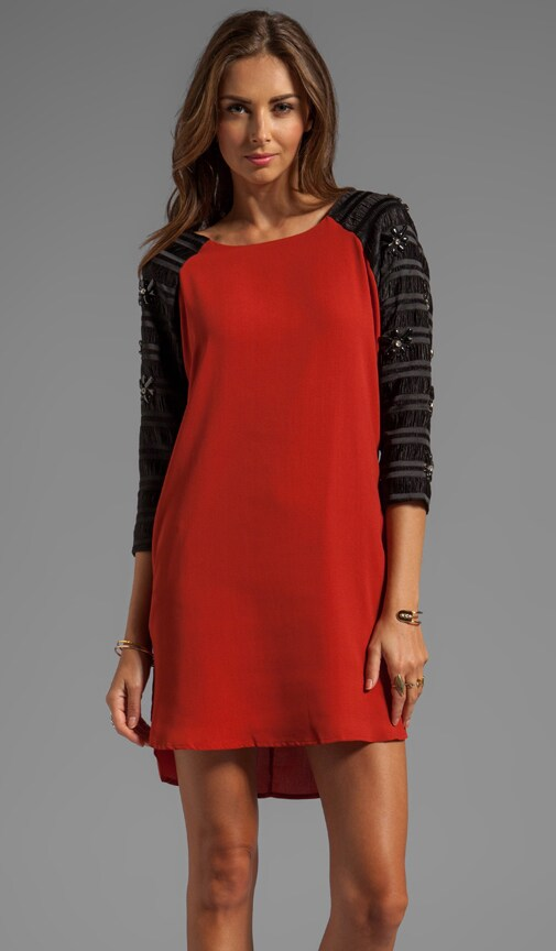 Embellished Raglan Dress