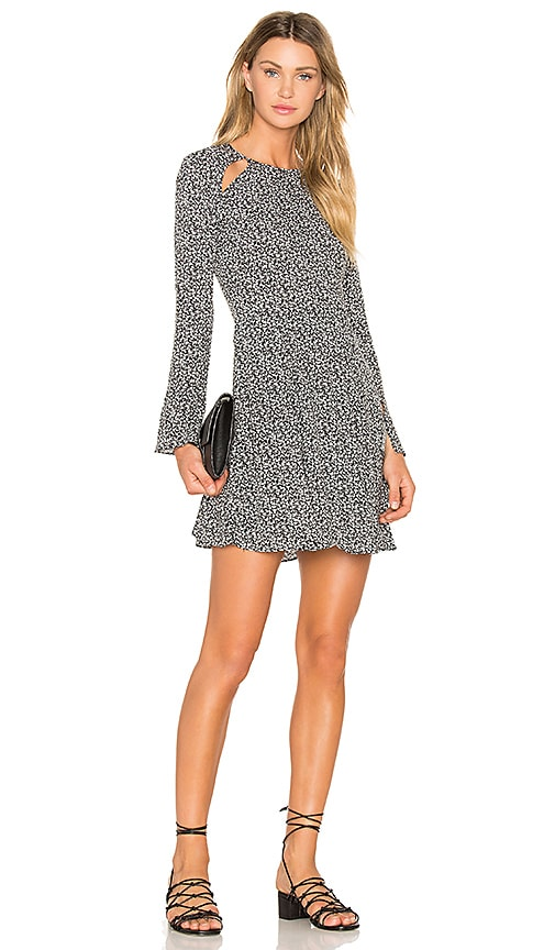 Line & Dot Camellia Slash Dress in Black & White