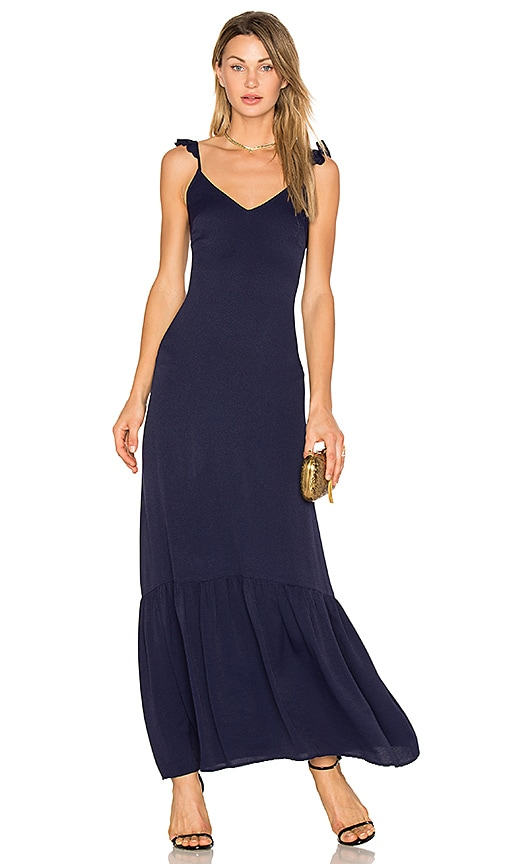 Line & Dot Vella Frill Maxi Dress in Navy
