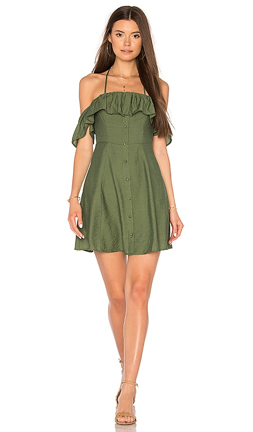 Line & Dot Leon Dress in Olive