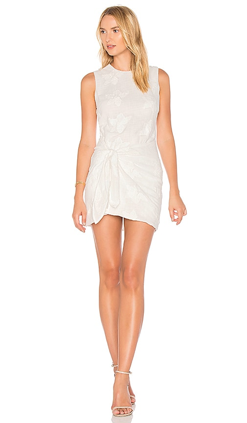 Line & Dot Laci Tied Dress in White