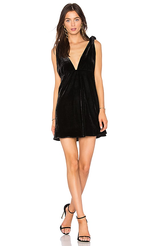 Line & Dot x REVOLVE Tied Mini Dress in Black