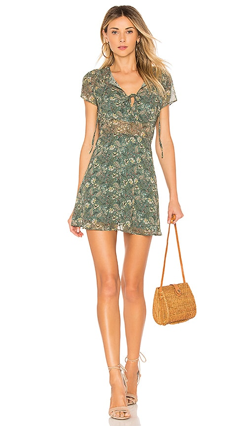 Line & Dot Phyly Mini Dress in Green