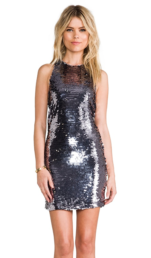 c26d6d03 Mirrored Sequin Halter Dress. Mirrored Sequin Halter Dress. Line & Dot