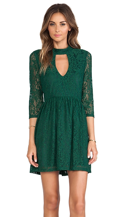 Moore Keyhole Lace Dress
