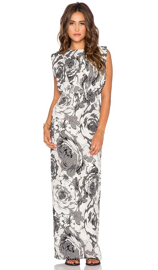 Line & Dot Brigitte Maxi Dress in Black & White