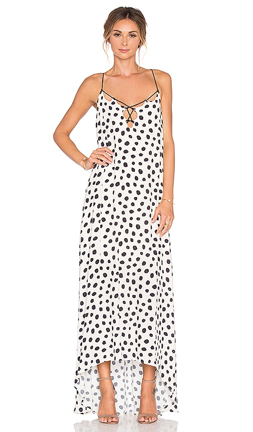 Line & Dot Jacqueline Dot Maxi Dress in Cream