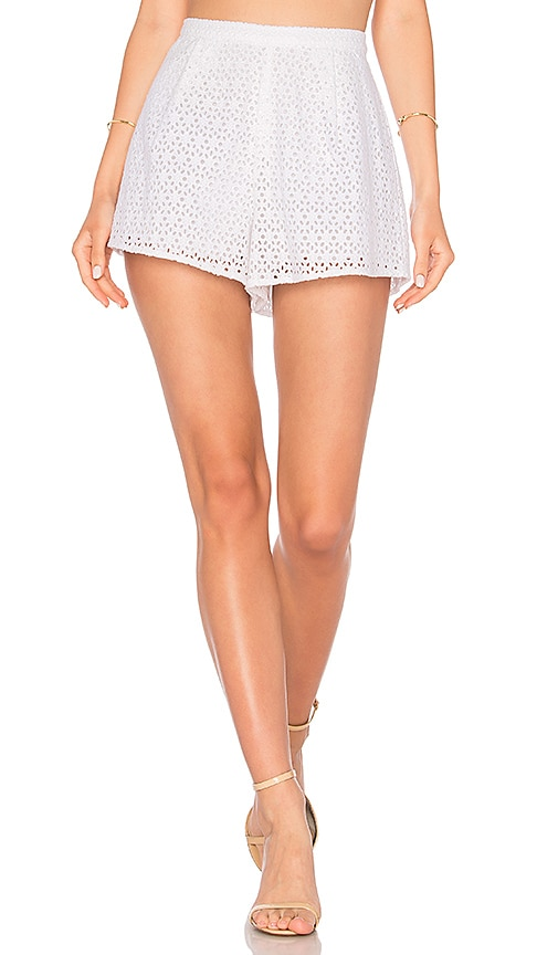 Line & Dot Gaby Shorts in White