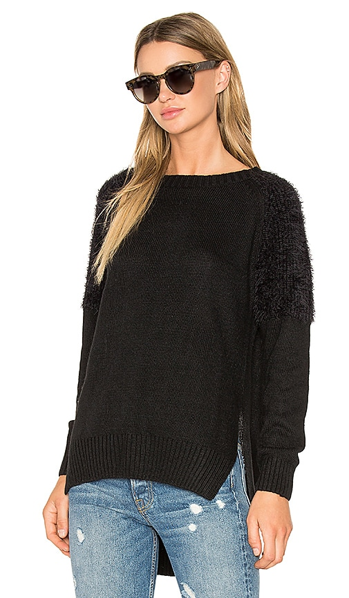 Line & Dot Cypress Sweater in Black