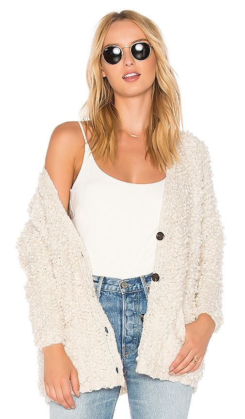 Line & Dot Manette Cardigan in Cream