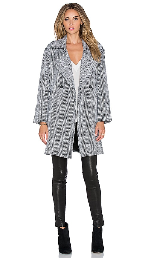 Line & Dot Jean Luc Overcoat in Gray