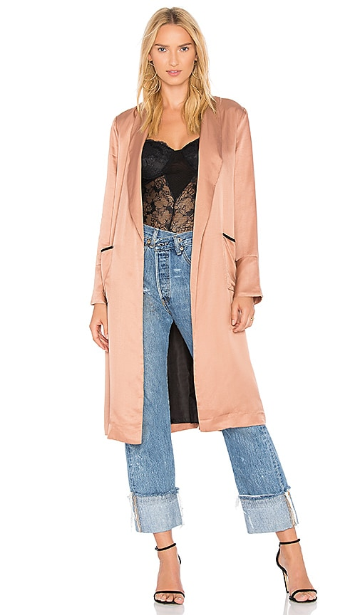 Line & Dot Aida Coat in Blush