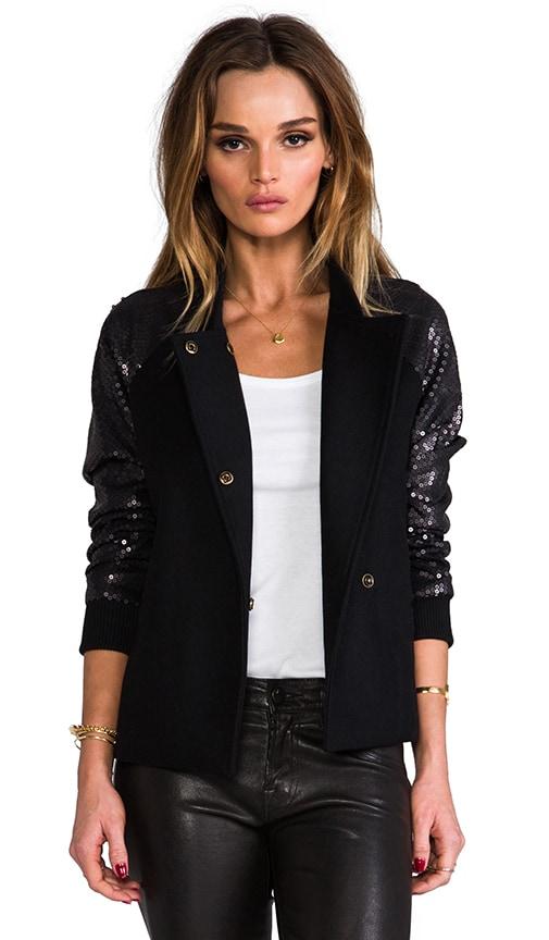 Sequin Contrast Varsity Jacket