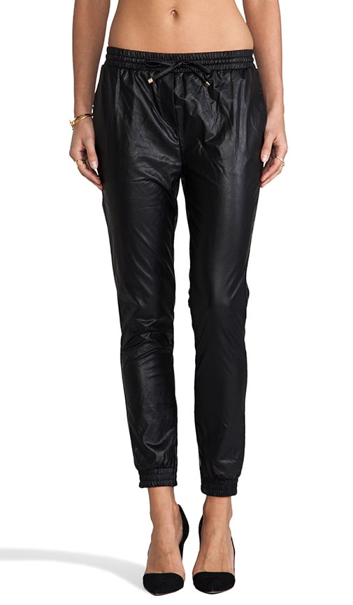 Faux Leather Trackies