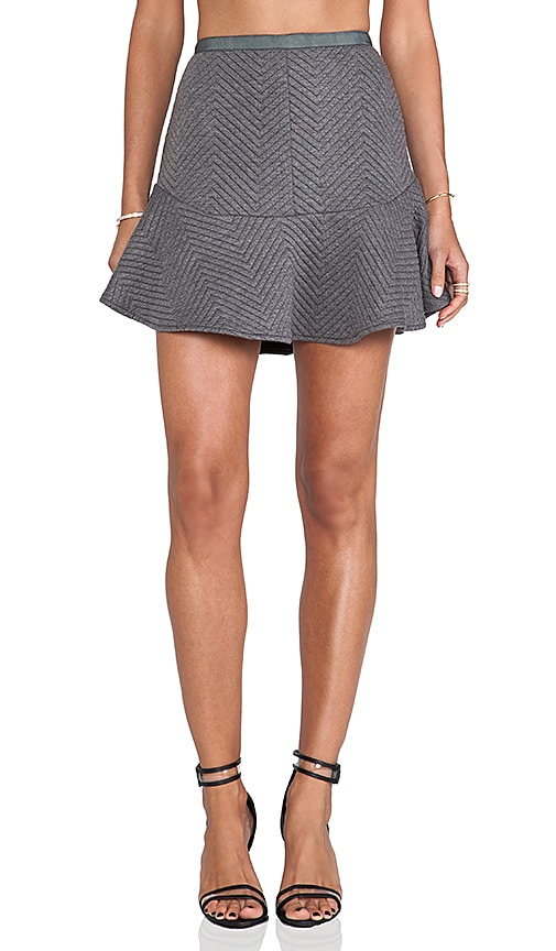 Daria Quilted Flare Skirt