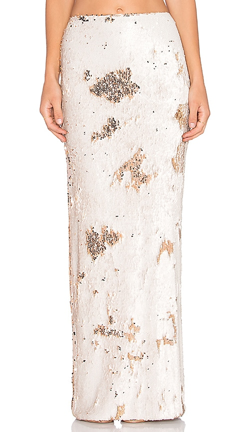 Line & Dot Lucille Sequin Skirt in Pale Pink
