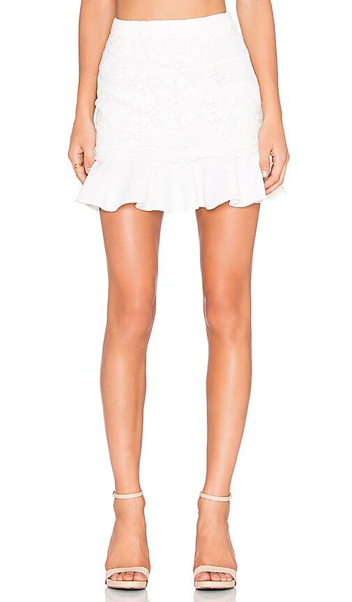Line & Dot Mon Cherie Lace Skirt in White