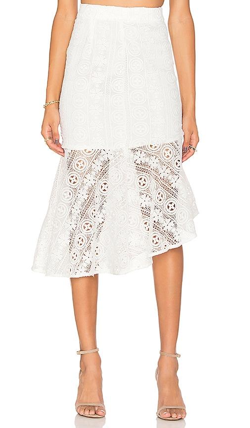 Line & Dot Promenade Mermade Skirt in Ivory