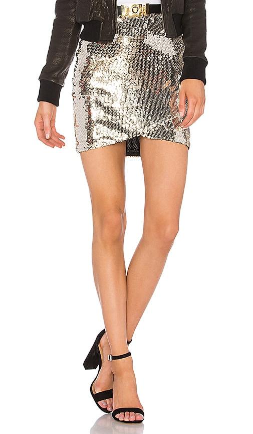 Line & Dot Soleil Sequin Skirt in Metallic Gold