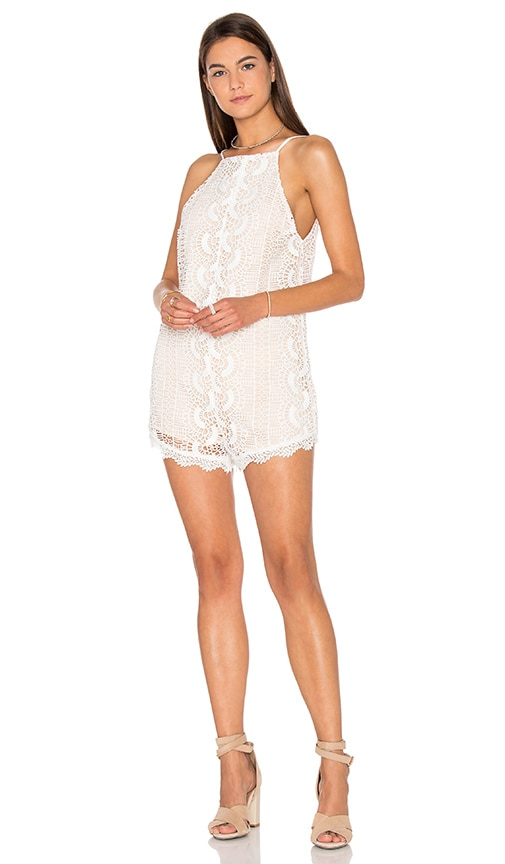 Line & Dot Palais De Romper in White
