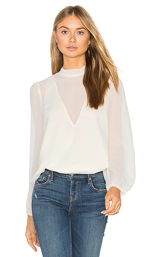 Line & Dot Tautou Blouse in White
