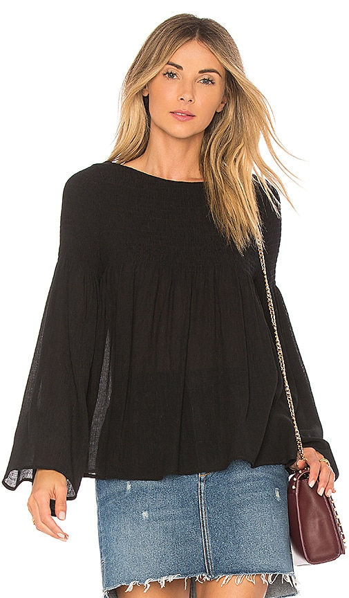 Line & Dot Dina Blouse in Black