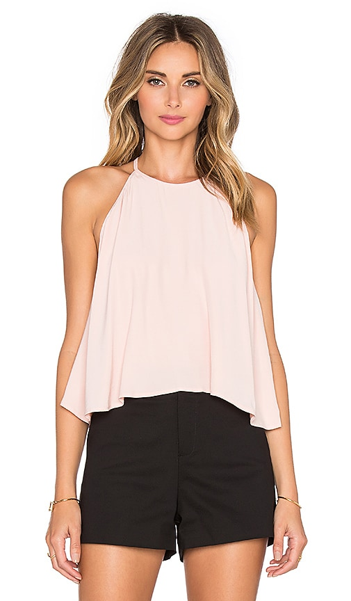 Line & Dot Lucienne Halter Top in Blush