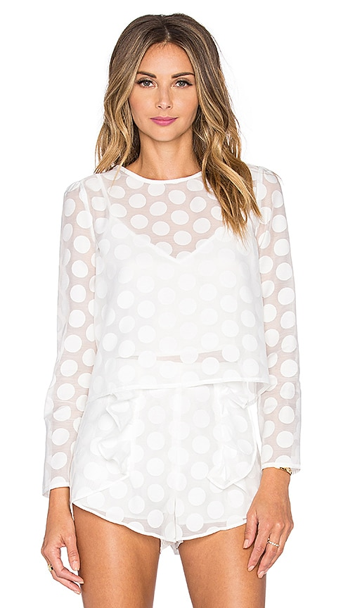Line & Dot Soleil Dot Blouse in White