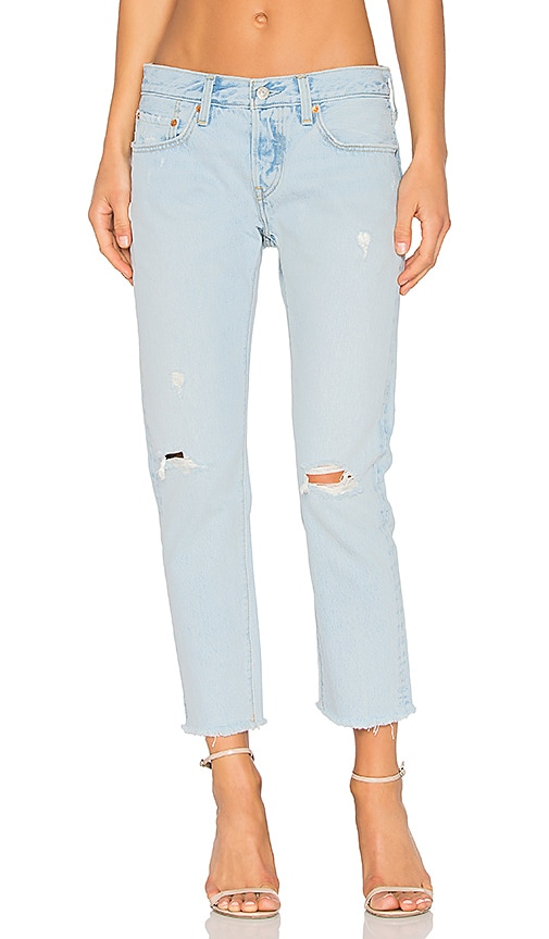 79e412d1 LEVI'S 501 Cropped Taper in Bowie Blue | REVOLVE