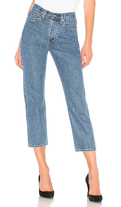 12549f1ebc LEVI S Made   Crafted 501 Crop in Dune Blue