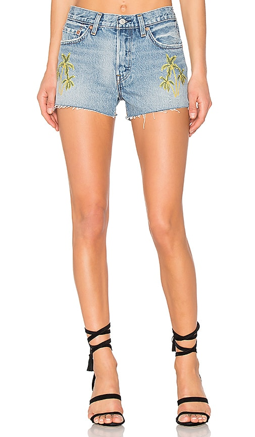 LEVI'S Palm Embroidered Short in Medium Blue