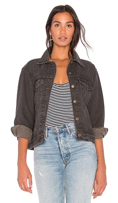 LEVI'S Ex Boyfriend Trucker Jacket in Berlin Night