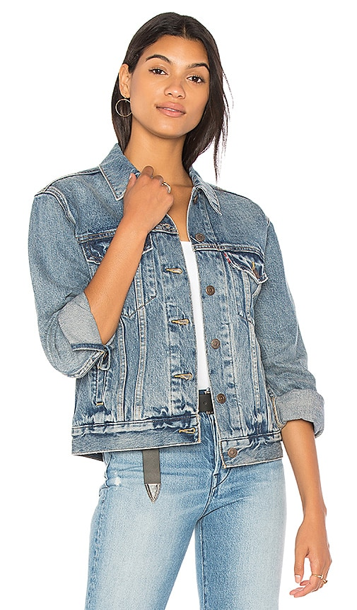 LEVI'S Ex Boyfriend Trucker Jacket in Favorite Blues