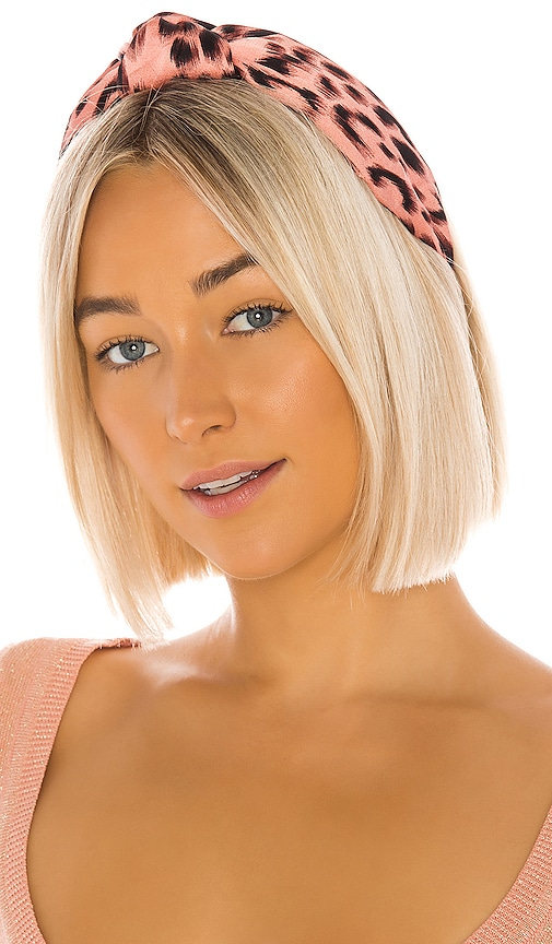 Silk Leopard Knotted Headband
