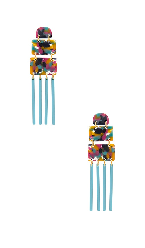 Lele Sadoughi Carnival Earring in Turquoise