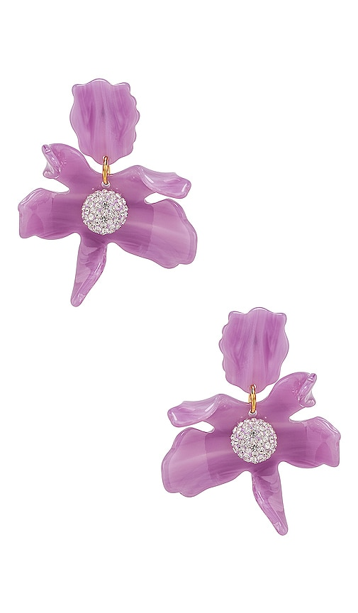 Small Crystal Lily Earring