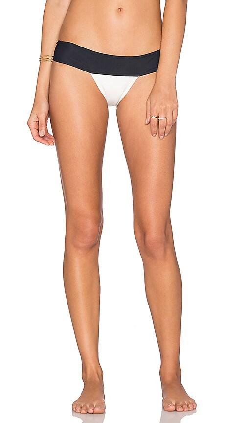 Lenny Niemeyer Bikini Bottom in Off White & Black