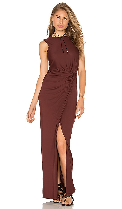 Lenny Niemeyer Twist Maxi Dress in Brown