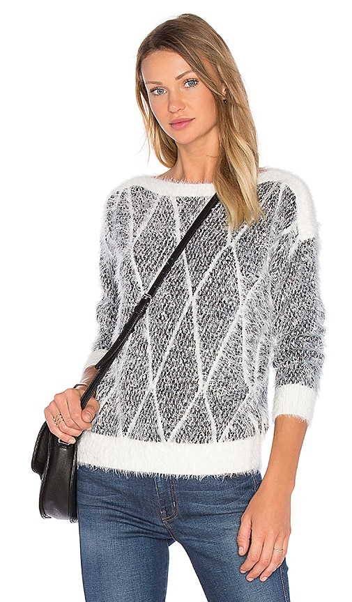 LEO & SAGE Crew Neck Sweater in Gray