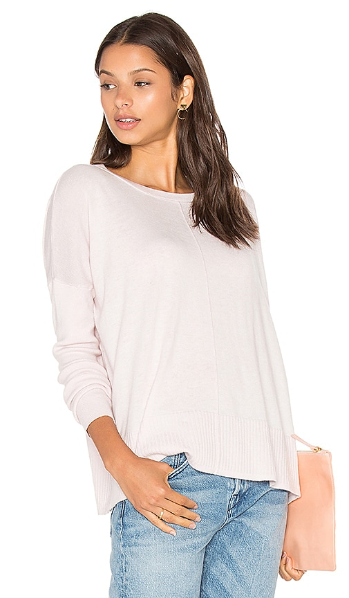 LEO & SAGE Oversized Crew Neck Sweater in Blush