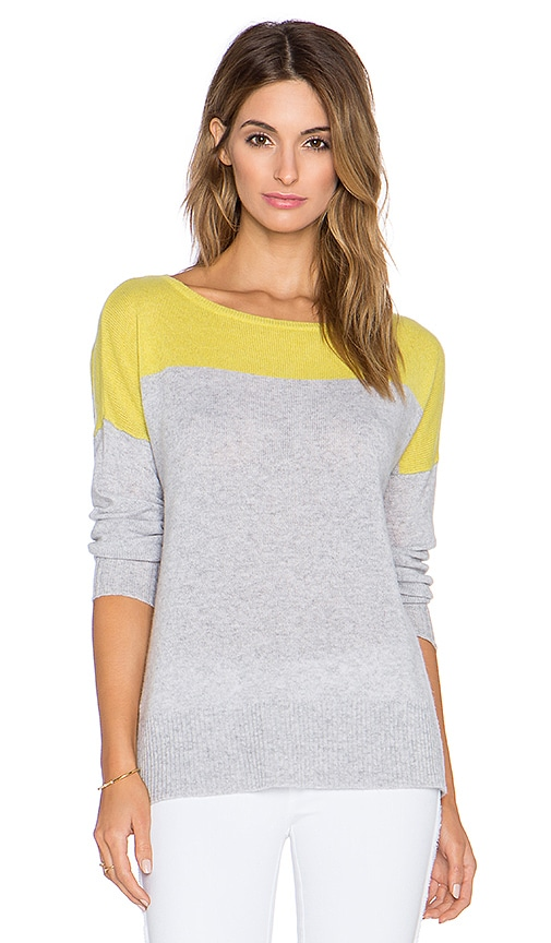23e6cbc382 LEO   SAGE Colorblock Boatneck Sweater in Light Heather Grey ...