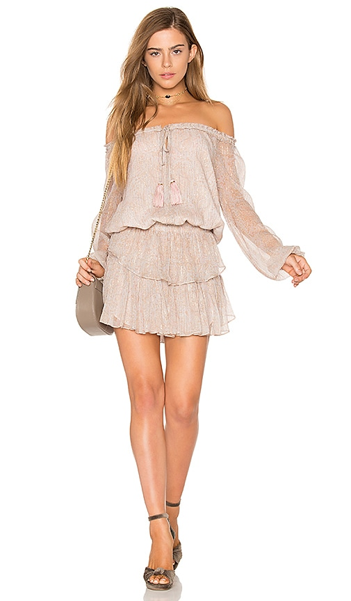LoveShackFancy Popover Dress in Beige